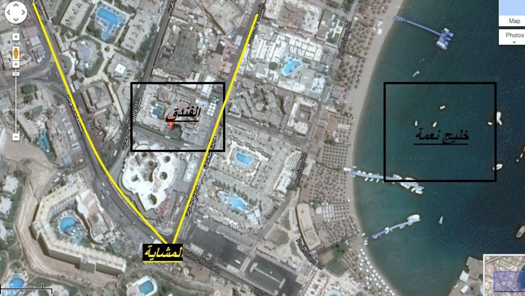 خريطة الفندق