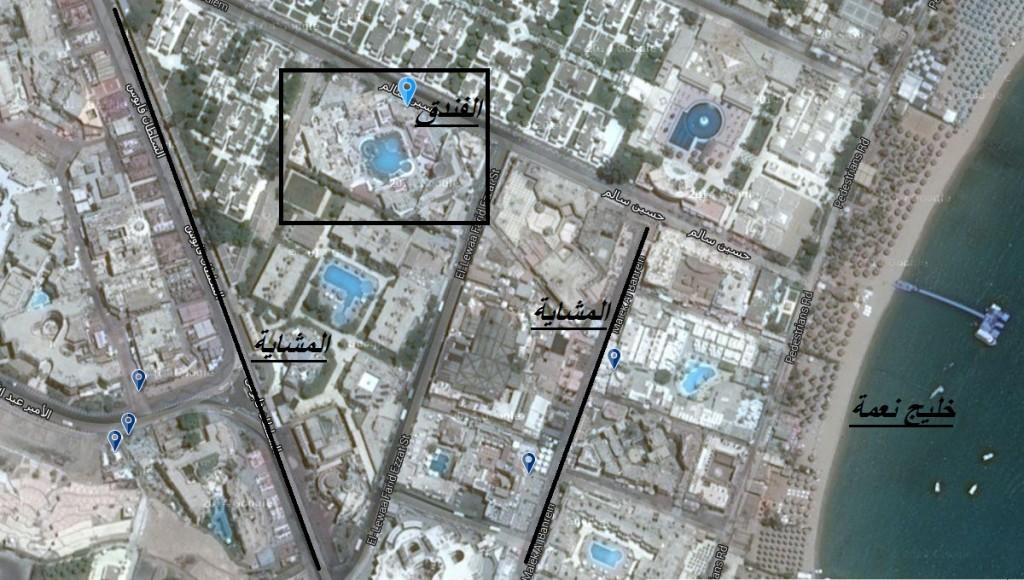 خريطة فندق كهرمانة