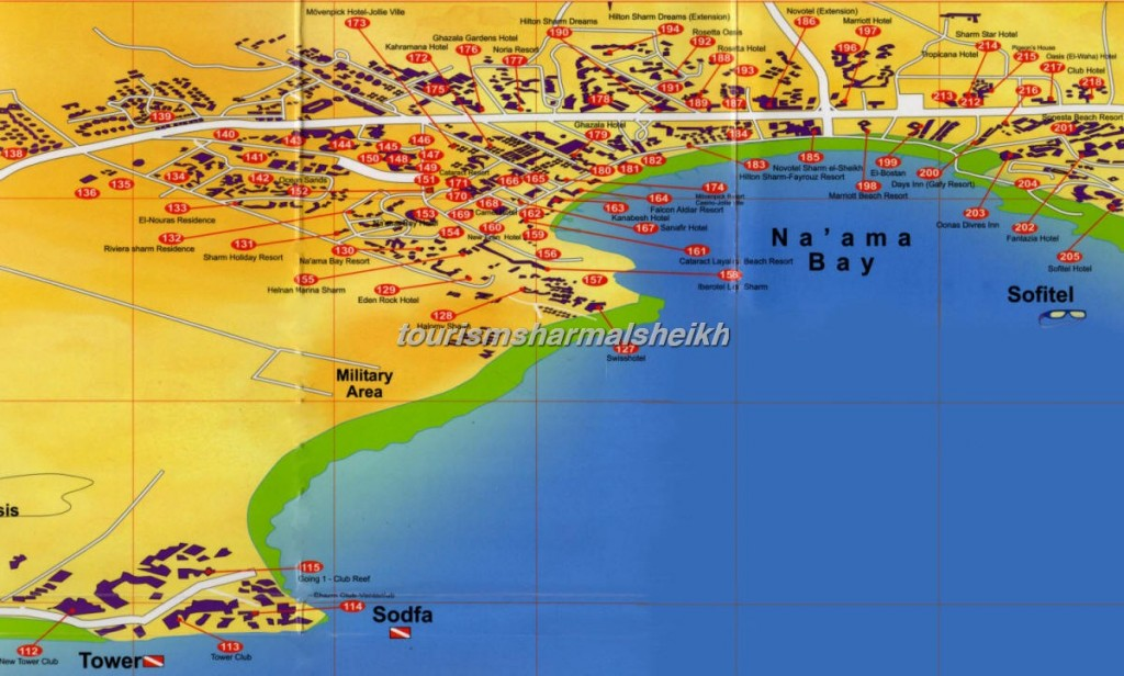 Naama-Bay-Hotel-Map